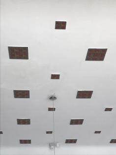 Tiled ceiling, detail, Darvas La Roche, Oradea, 5