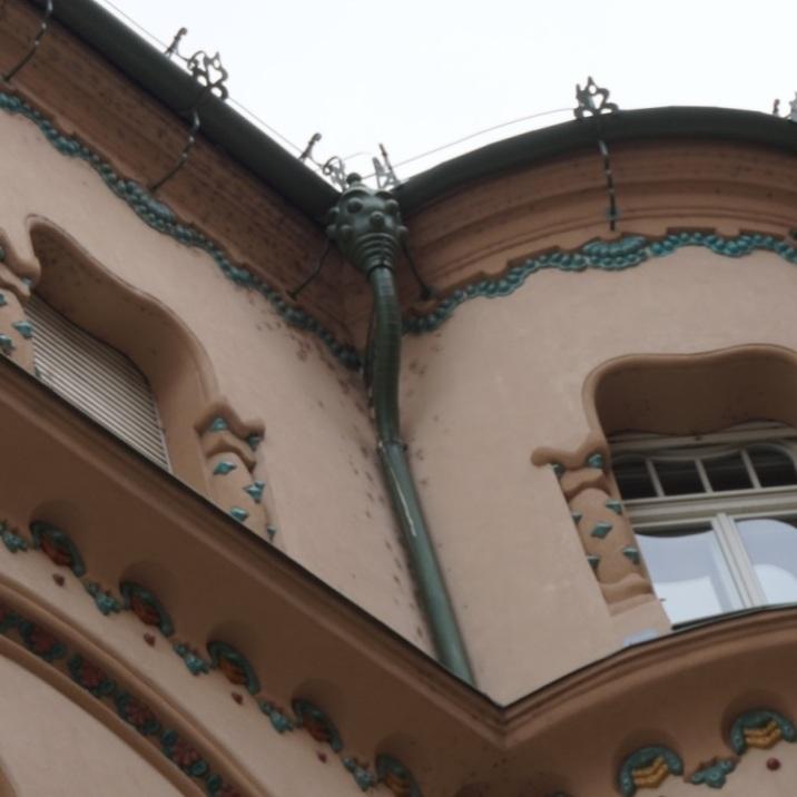 Rain pipe -Black Eagle Palace, Oradea