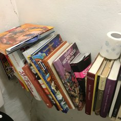 Books in a rest room in Podlasie area, North Eastern Poland