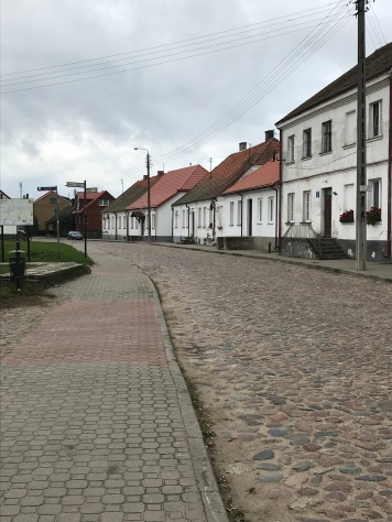 The way to Tykocin Synagogue, on the left side