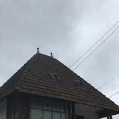Combination of Central European Style of Roof and Balkan Style of Covered Porch