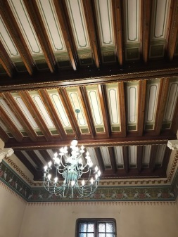 Ceiling with Floral and Rectangular Models
