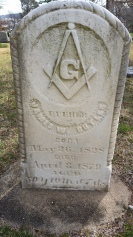 Funerary Stone with Masonic Symbols