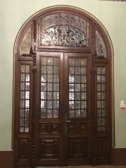 Neo-Romanian Style Door with Classical and Art-Nouveau Features