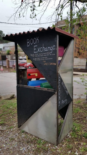 Book Exchange Booth, Out of Hand, Artists Collective, Fayetteville, Arkansas