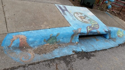 Drainage System, the entire painting, Fayetteville, AR, USA