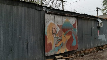 Drawing, Wall, Out of Hand, Artists Collective, Fayetteville, Arkansas