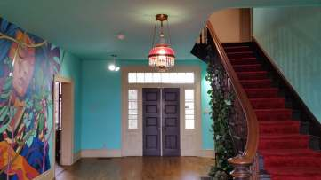 Entrance, Walker-Stone House, Fayetteville, AR, USA