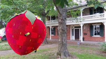 Giant Stawberry by Gina Gallina, Walker-Stone House