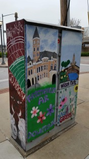 Painted Electrical Board Box, 2, Fayetteville, AR, USA