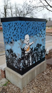 Painted Electrical Board Box, 3, Fayetteville, AR, USA