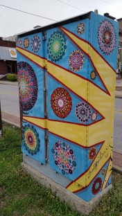 Painted Electrical Board Box, back view of no. 4, Fayetteville, AR, USA