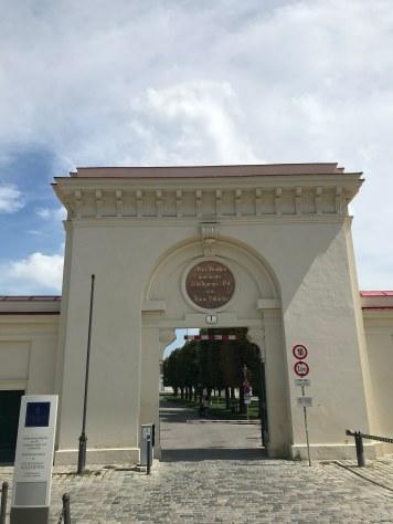 Augarten Park entrance