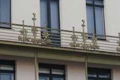 Balcony of Otto Wagner Building on Linke Wienzeile no. 38