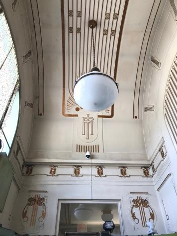 Ceiling, Otto Wagner Pavillion, Karlsplatz