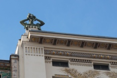 Detail of Otto Wagner Building on Linke Wienzeile no.38