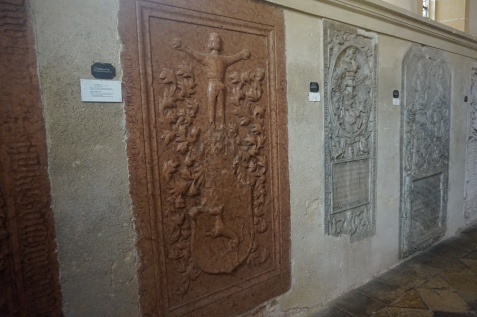 Detail, Tomb Plates of the Local Officials in Lutheran Church of Sibiu (Hermannstadt)