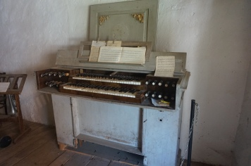Harpsichord Type of Instrument in the Museum of Saxon Life, Honigberg, Transylvania