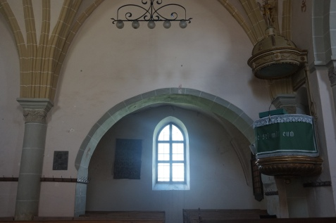 Inside view of Honigberg Church