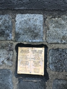 Memorial Plaque in the Pavement to Deported Jewish Residents of Leopoldstadt