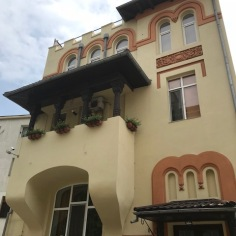 neo-Romanian Style on a facade (mix of folk and Byzantine elements)
