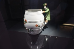 Pot and Human Handler in Porcelain Museum located in Augarten Park