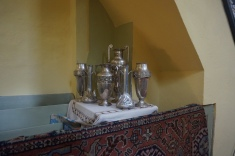 Silverware and Anatolian Rug in the Lutheran Church of Rosenau
