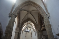 The Arch View in the Lutheran Church of Prejmer, Tartlau