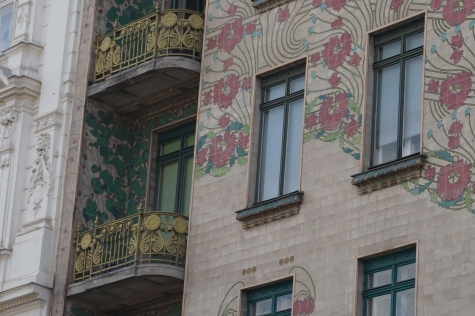The Majolikahaus Detail on Linke Wienzeile no. 40, architect Otto Wagner