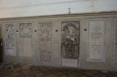 Tomb plates in the Lutheran Chruch of Sibiu (Hermannstadt)