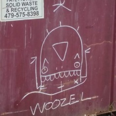 Art on refuse containers, Fayetteville, Arkansas
