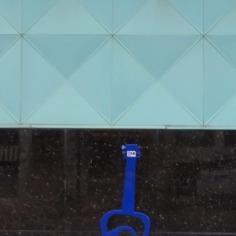 Bike holder under the shape of guitar, Fayetteville, Arkansas