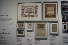 Business signs, business cards, price lists of the most important beauty shops, department stores, and parlors of Vienna of the last decades of the 19th century