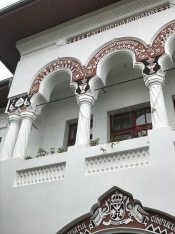 Detail of the Neo-Romanian Style of Building located near the Negru-Voda Monastery, Câmpulung
