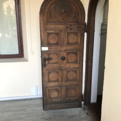 Door featuring an interesting woodwork