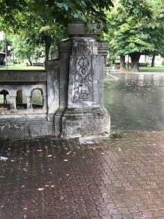 Entrance of the public garden, Câmpulung