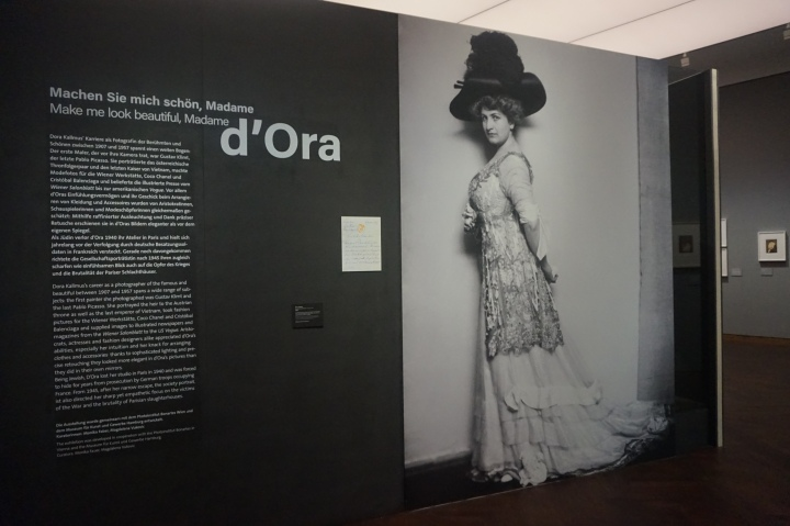 Entrance to the Exhibition, photo of Alma Mahler
