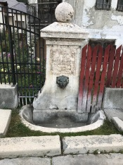 Fountain built in 1909 by P. Bastia in Rucăr village; it is located on Hospital Street