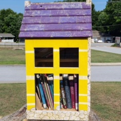 Free library, side view