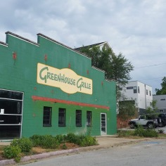 Greenhouse Grille, painted house, Fayetteville, Arkansas