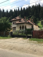 House in Rucăr village, neo-Byzantine and neo-classic influences