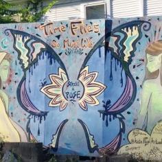 Mural by Austin Floyd, street art Fayetteville, Arkansas