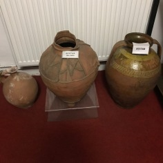 Pots for storing vinegar (the one in the middle is an eighteenth century object)