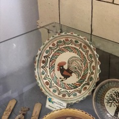 Rooster on decorative plate of southern Romania (Oltenian region)