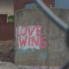 Street Art with a message, Fayetteville, Arkansas