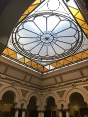 The Glass Ceiling of the building that currently hosts the History Museum of Câmpulung