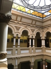 Upper side of the Entrance Hall, The History Museum of Câmpulung; it hosted the financial authority and it was built by the architect Statie Ciortan in the years 1934-1936