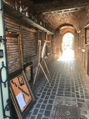 `The Art of Framing` (entrance to vintage shop and wine house on Republicii Street)