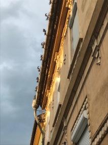 Decorated Rain gutter, Sibiu, Romania