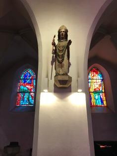 Saint Rupert in Episcopal garments, wooden sculpture made in 1370